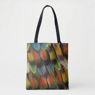 Motif de plume de perruche sac