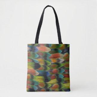 Motif de plume de queue de perruche sac
