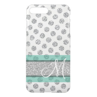 Motif de point argenté de polka de scintillement coque iPhone 7 plus