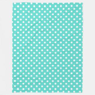 Motif de point bleu turquoise de polka
