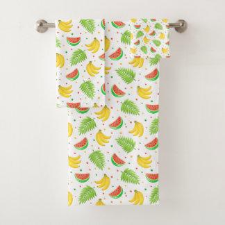 Motif de point de polka de fruit tropical