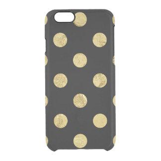 Motif de point élégant de polka de feuille d'or - coque iPhone 6/6S