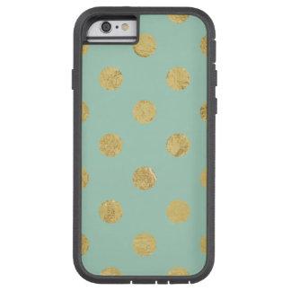 Motif de point élégant de polka de feuille d'or - coque tough xtreme iPhone 6