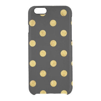 Motif de point élégant de polka de noir et de coque iPhone 6/6S