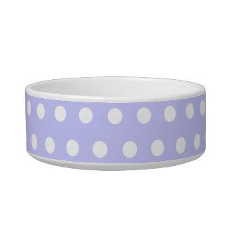 Motif de point lilas et blanc de polka. Tacheté Assiette Pour Chat