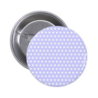 Motif de point lilas et blanc de polka. Tacheté Badge Avec Épingle