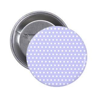 Motif de point lilas et blanc de polka. Tacheté Badge Rond 5 Cm