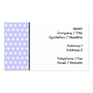 Motif de point lilas et blanc de polka. Tacheté Modèles De Cartes De Visite