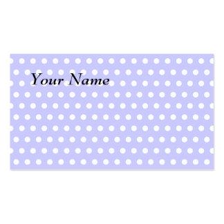 Motif de point lilas et blanc de polka. Tacheté Modèle De Carte De Visite