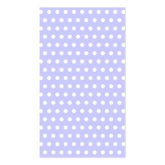 Motif de point lilas et blanc de polka. Tacheté Cartes De Visite Professionnelles