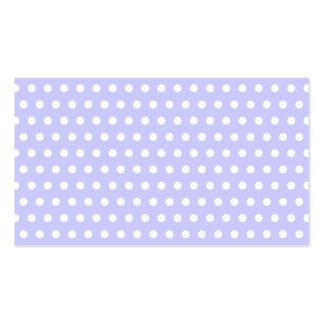 Motif de point lilas et blanc de polka. Tacheté Carte De Visite Standard
