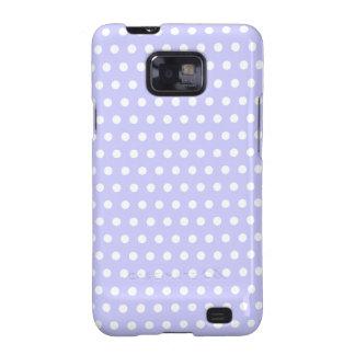 Motif de point lilas et blanc de polka. Tacheté Galaxy SII Case