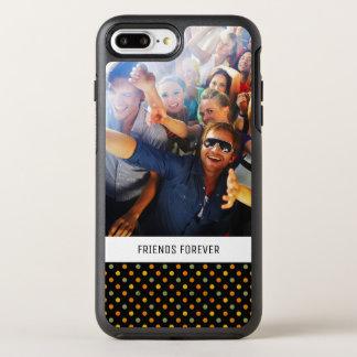 Motif de point lumineux de polka de photo et de coque otterbox symmetry pour iPhone 7 plus
