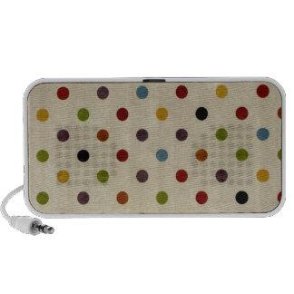 motif de point mignon de polka d'arc-en-ciel haut-parleur notebook