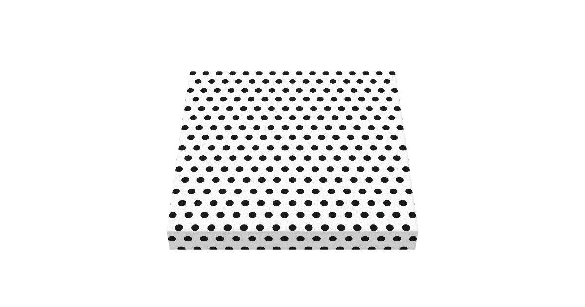 motif de point noir et blanc de polka tachet impressions sur toile zazzle. Black Bedroom Furniture Sets. Home Design Ideas