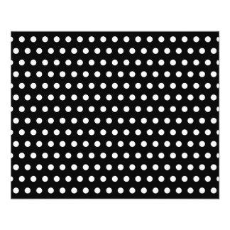 Motif de point noir et blanc de polka. Tacheté Prospectus 11,4 Cm X 14,2 Cm