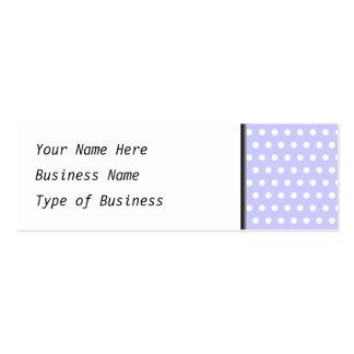 Motif de point pourpre blanc et lilas de polka. Ta Cartes De Visite Personnelles