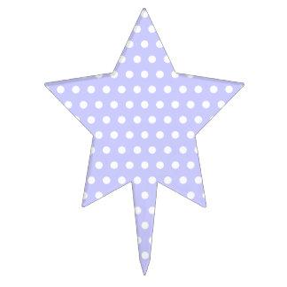 Motif de point pourpre blanc et lilas de polka. Ta Étiquette À Gâteau