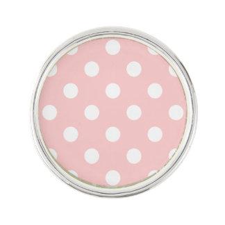 Motif de point rose et blanc de polka épinglette