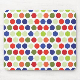 Motif de point rouge de polka de vert bleu tapis de souris