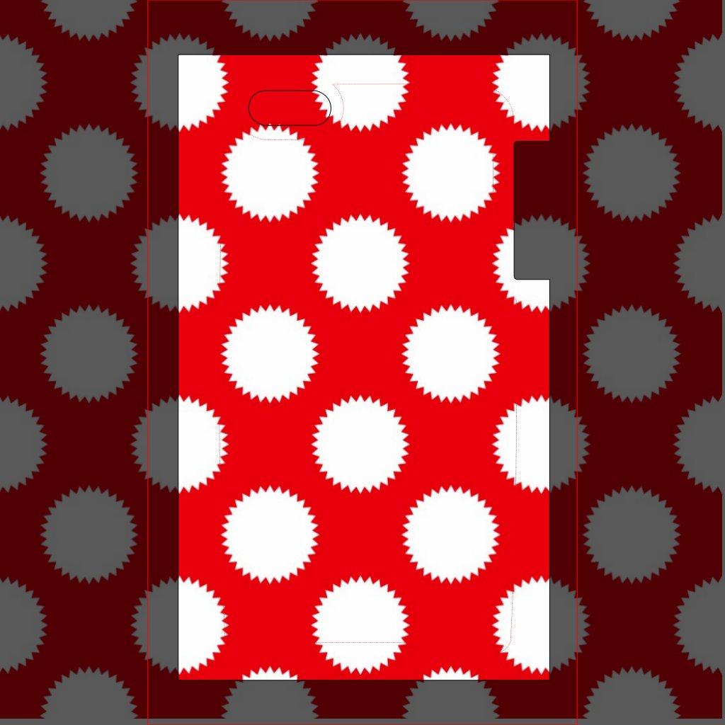 Point Rouge Lumineux Motif de Point Rouge et Blanc