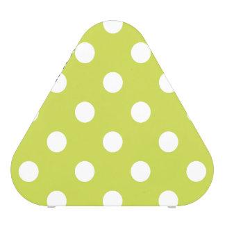Motif de point vert de polka haut-parleur bluetooth