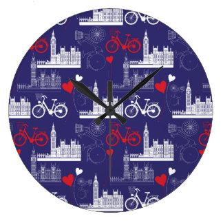 Motif de points de repère de Londres Grande Horloge Ronde