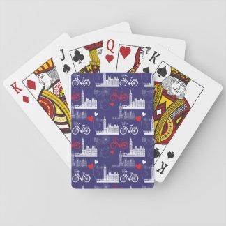 Motif de points de repère de Londres Jeux De Cartes