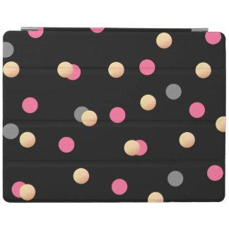 motif de points gris de confettis de rose de protection iPad