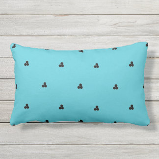 MOTIF DE POINTS NOIR CHIC DE PILLOW_MOD SUR L'AQUA COUSSIN RECTANGLE