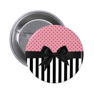 Motif de pois à la mode élégant mignon de rayures pin's
