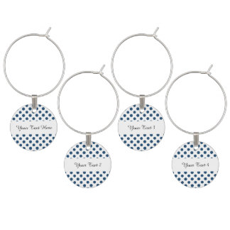Motif de pois blanc de bleu marine marque-verre
