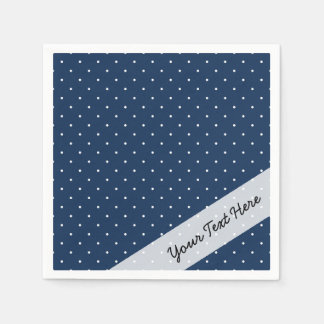 motif de pois blanc minuscule élégant de bleu serviette jetable