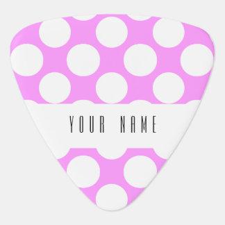 Motif de pois blanc rose moderne onglet de guitare