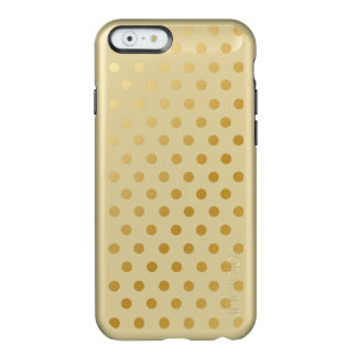 Motif de pois brillant d'or coque iPhone 6 incipio feather® shine
