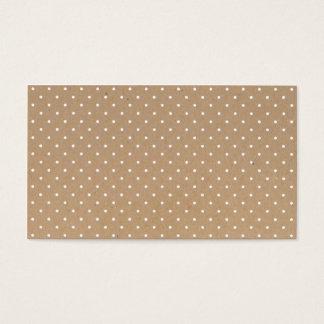 Motif de pois brun simple moderne de papier de cartes de visite