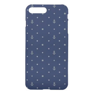 Motif de pois d'ancre coque iPhone 7 plus
