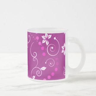 Motif de pois floral blanc rose vintage tasse à café