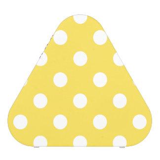 Motif de pois jaune haut-parleur bluetooth