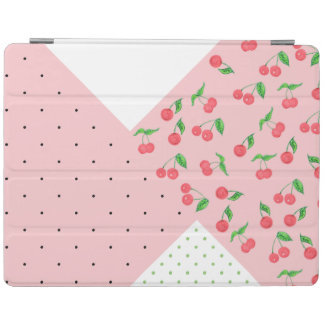 motif de pois mignon de dessin de cerise protection iPad