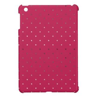 motif de pois rose de rose de feuille d'or de faux coques pour iPad mini