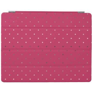 motif de pois rose de rose de feuille d'or de faux protection iPad