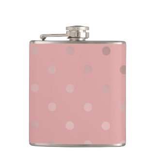 motif de pois rose élégant et clair de feuille flasques