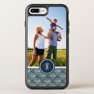 Motif | de poissons de point de polka votre photo coque OtterBox symmetry iPhone 8 plus/7 plus