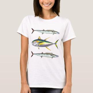 motif de poissons de truite saumonnée et de wahoo t-shirt