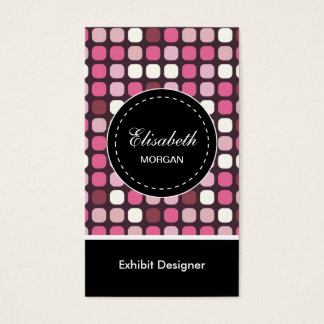 Motif de polka de rose de concepteur d'objet cartes de visite