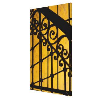 Motif de porte de fer en jaune, Cuba Toile