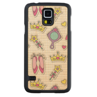 motif de princesse de papillon coque galaxy s5 en érable