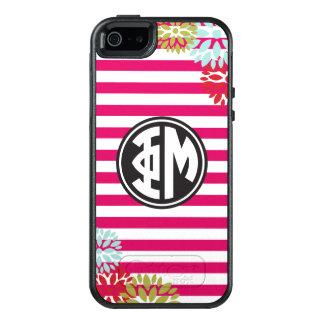 Motif de rayure de monogramme de la MU   de phi Coque OtterBox iPhone 5, 5s Et SE
