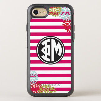 Motif de rayure de monogramme de la MU | de phi Coque Otterbox Symmetry Pour iPhone 7